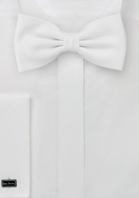 Solid Boys Bow Tie in White