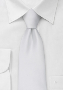 Solid Color Necktie in Bright White