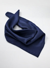 Solid Dark Blue Neck Scarf