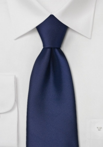 Dark Blue Mens Tie in Extra Long