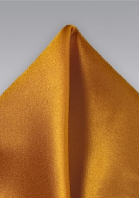 Pocket Square in Orange Sunset Color