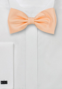 Formal Pre-Tied Bow Tie in Peach-Apricot