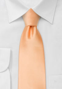 Solid Color Mens Tie in Peach-Apricot