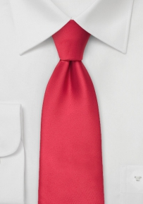 Extra Long Tie in Solid Red