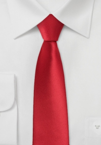 Modern Skinny Tie in Bright Red