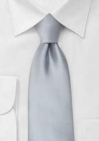 Solid Silver Necktie in XL Length