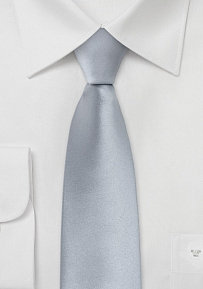 Skinny Tie in Solid Silver