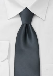 Solid Necktie in Smoke-Gray