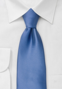 Solid Blue Necktie in Extra Long Length