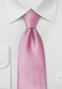 Mens Neck-tie in Solid Pink