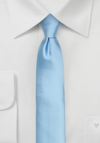 Powder Blue Mens Tie in Skinny Cut