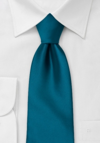 Solid Necktie in Dark Teal-Blue