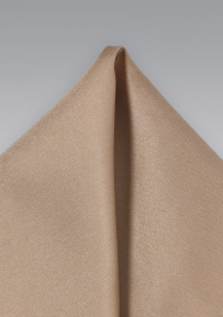 Elegant Satin Pocket Square in Tan Beige