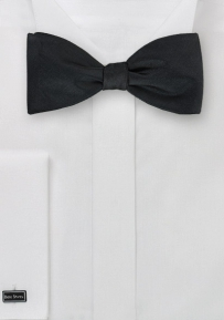 Formal Self-Tied Bow Tie in Solid Black