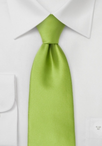 Kids Size Necktie in Bright Lime-Green