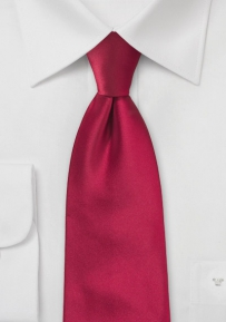 Solid Mens Tie in Crimson-Red