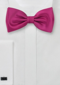 Solid Mens Bow Tie in Hot Magenta-Pink