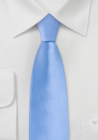 Skinny Mens Tie in Bright Blue