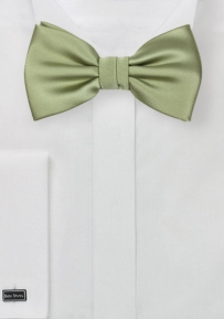 Solid Satin Bow Tie in Sage Green