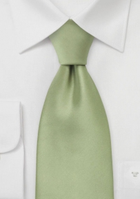 Extra Long Light Jade Green Tie