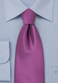 Solid Purple Boys Sized Necktie