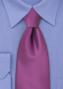 Solid Purple Mens Necktie