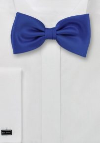 Solid Bow tie Bright Azure Blue