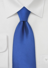 Solid Necktie in Bright Azure Blue