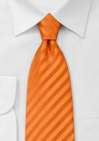 Boys Neck Tie in Pumpkin Orange