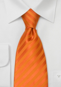 XL Length Necktie in Bright Orange