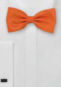 Solid Men's Bow Tie in Persimmon Orange