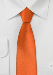 Skinny Necktie in Persimmon Orange