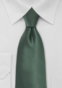 Solid Pine Green Mens Tie