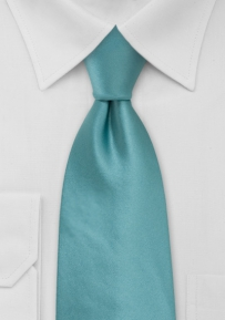 Kids Solid Color Tie in Teal