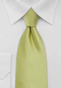Solid XL Size Tie in Pear Green