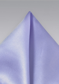 Solid Color Pocket Square in Lavender
