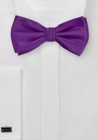 Solid Bright Purple Men's Bow Tie