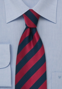 Dark Blue and Cherry XL Sized Tie