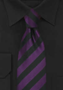 Extra Long Tie in Purple and Black