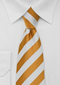 Golden-Yellow and White Tie