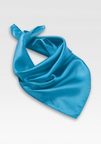 Bright Cyan Blue Neck Scarf