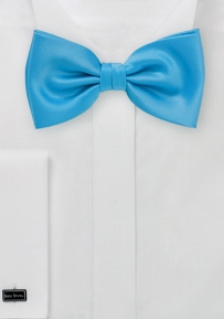 Bright Color Bow Tie in Cyan Blue