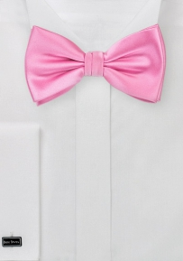 Bright Carnation Pink Bow Tie