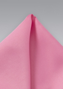 Pocket Square in Carnation Pink