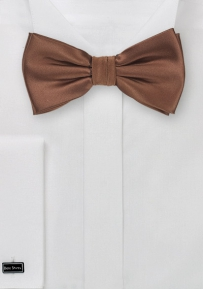 Solid Colored Bow Tie in Mocha Brown