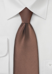 Solid Color Tie in Mocha Brown