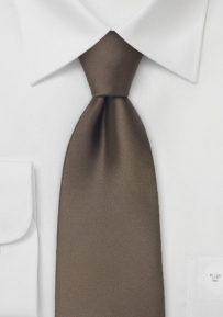Tie in Chestnut Brown