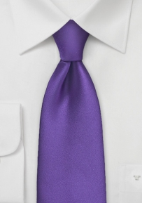 Kids Length Tie in Regency Purple