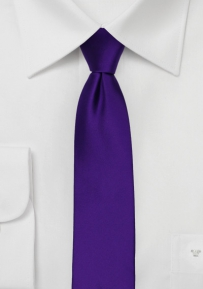 Skinny Necktie in Regency Purple