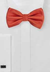 Deep Saffron Orange Bow Tie
